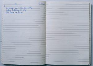 Dankbarkeitsbuch - Einträge als Beispiel