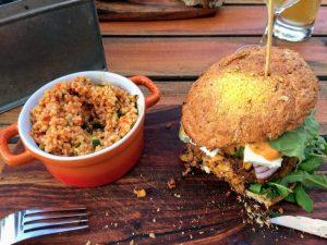 Der Veggie-Burger im Fair1heim
