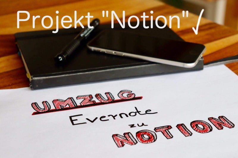 Evernote-Projekt abgeschlossen