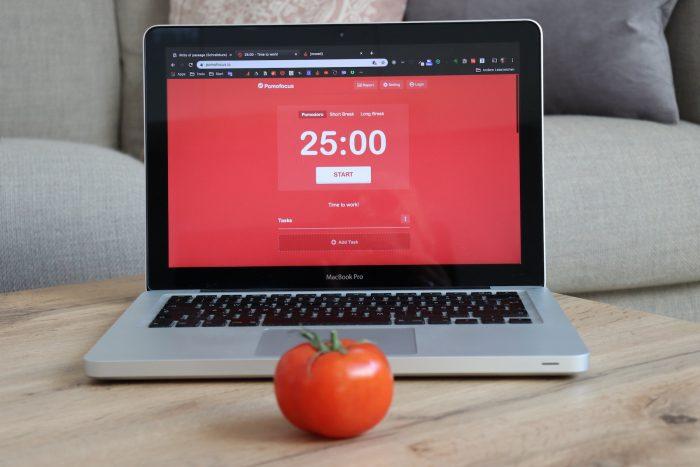 Das kostenlose Tool Pomofocus stellt einen einfachen Timer zur Verfügung.