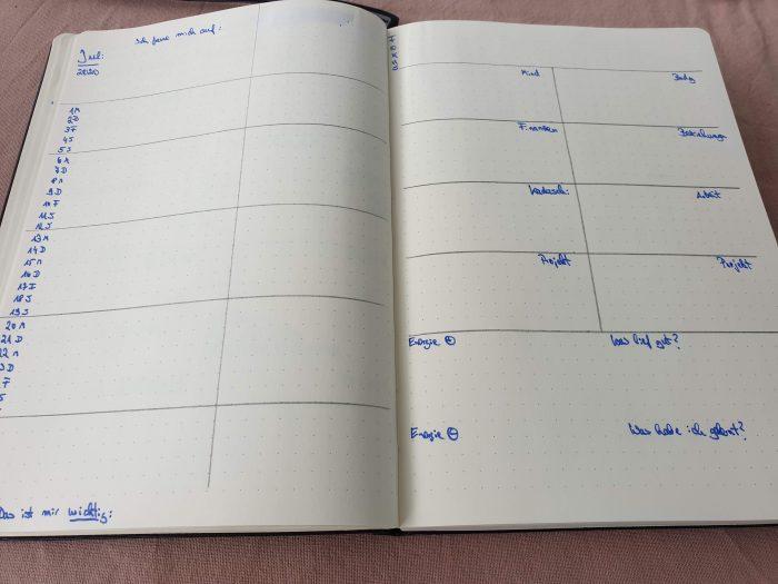 Meine aktuelle Planung für den Monat Juli