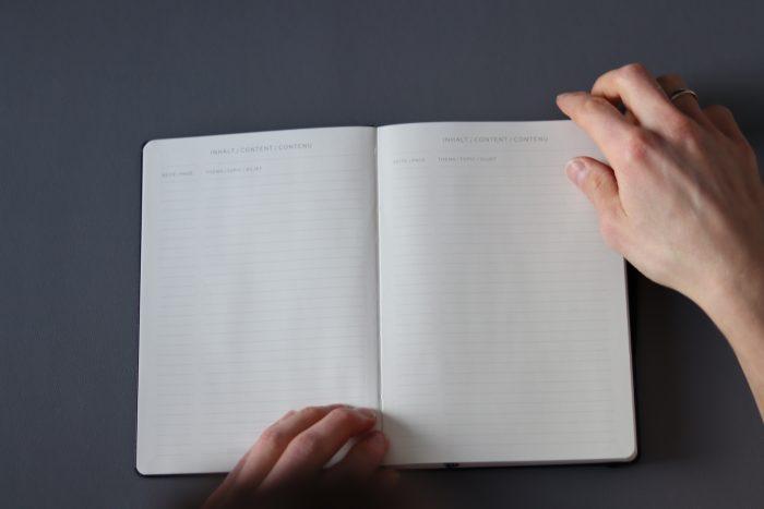 Bullet Journal: der Index